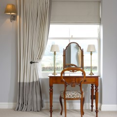 Blinds and dressing table